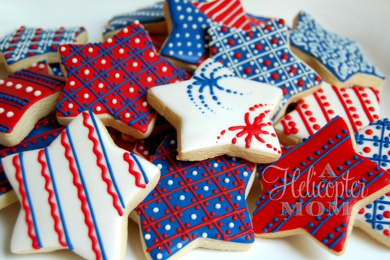 4th of july cookies recipe a helicopter mom