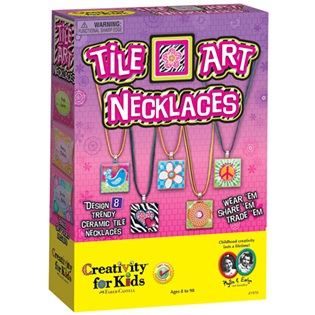 Arts and Crafts Tile Art Necklaces