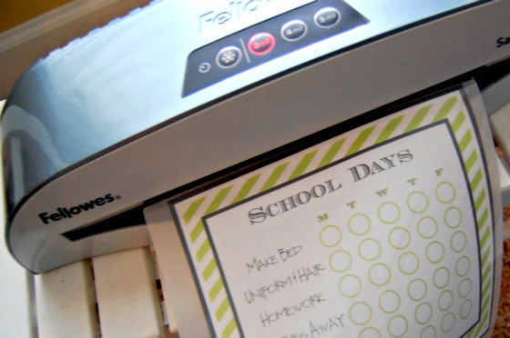 Back to School fun with my Fellowes Laminator
