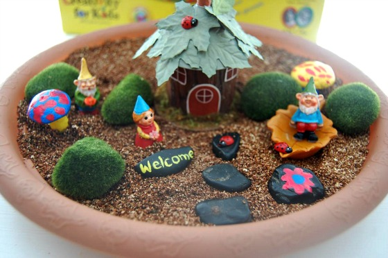Garden Art Ideas For Kids diy gnome garden - arts and crafts with kids - a helicopter mom