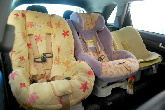 Kia Sorento Review 3 Carseats across