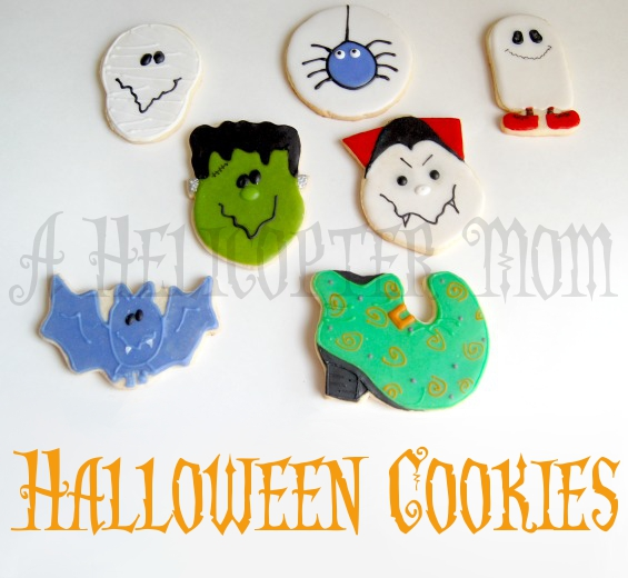 Halloween Cookies Hand Iced and Decorated