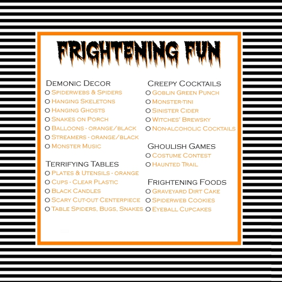 halloween party checklist - List Of Halloween Music