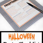 Halloween Party Checklist Printable
