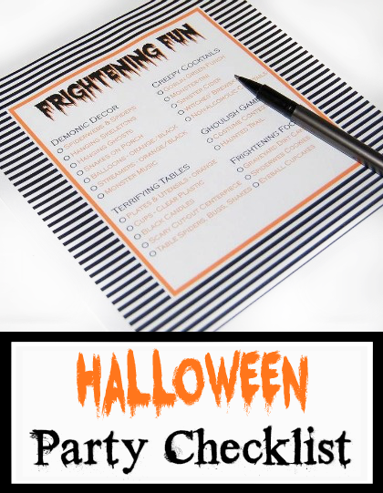 Halloween Party Checklist free printable - everything you'll need for a frightfully good time! #DIY #Printable #Halloween #party