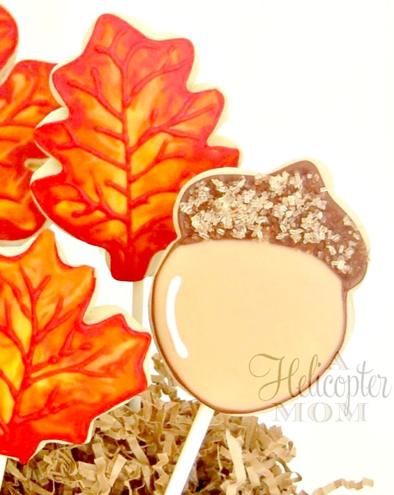 Autumn Acorn Hand Iced Cookies