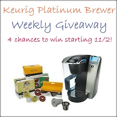 Keurig Platinum Brewer Giveaway