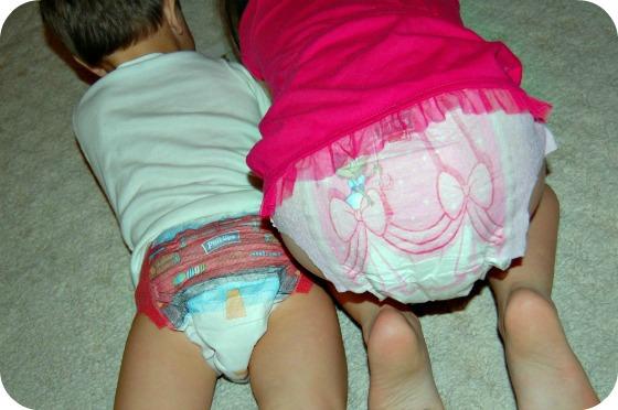 Girl Wetting Her Diaper