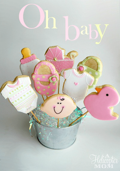 Baby Shower Cookies - Perfect for showers and new mom gifts!