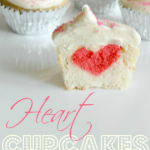 Heart in the Middle Cupcakes