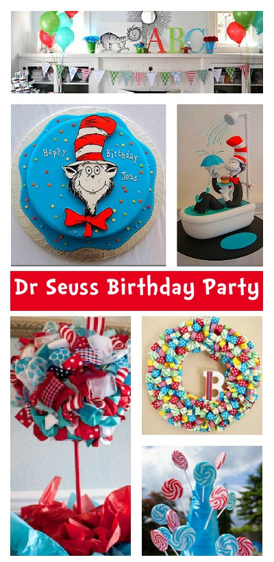 Dr Seuss Cat in the Hat Party Ideas