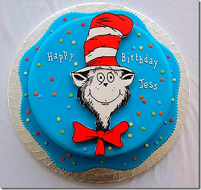 Dr Seuss Cake Cat in the Hat Cake
