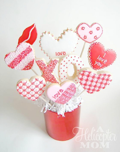 Valentine's Day Cookies - Cookie Bouquet
