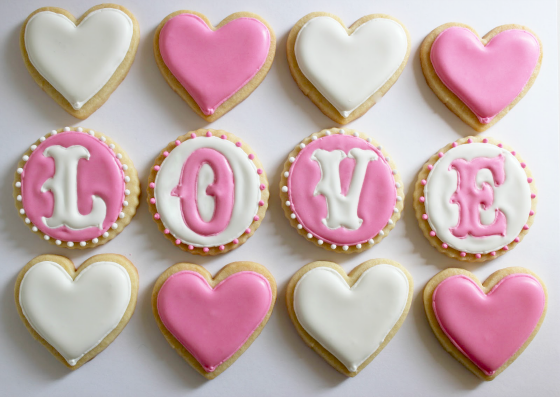 Love & Heart Cookies