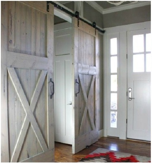 Gorgeous barn doors interior sliding doors a for Barn door closet door ideas