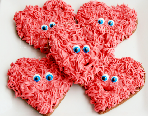 Fuzzy Hearts Cookies