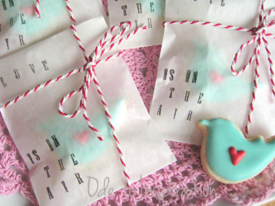 Love Is In The Air Bird Cookies