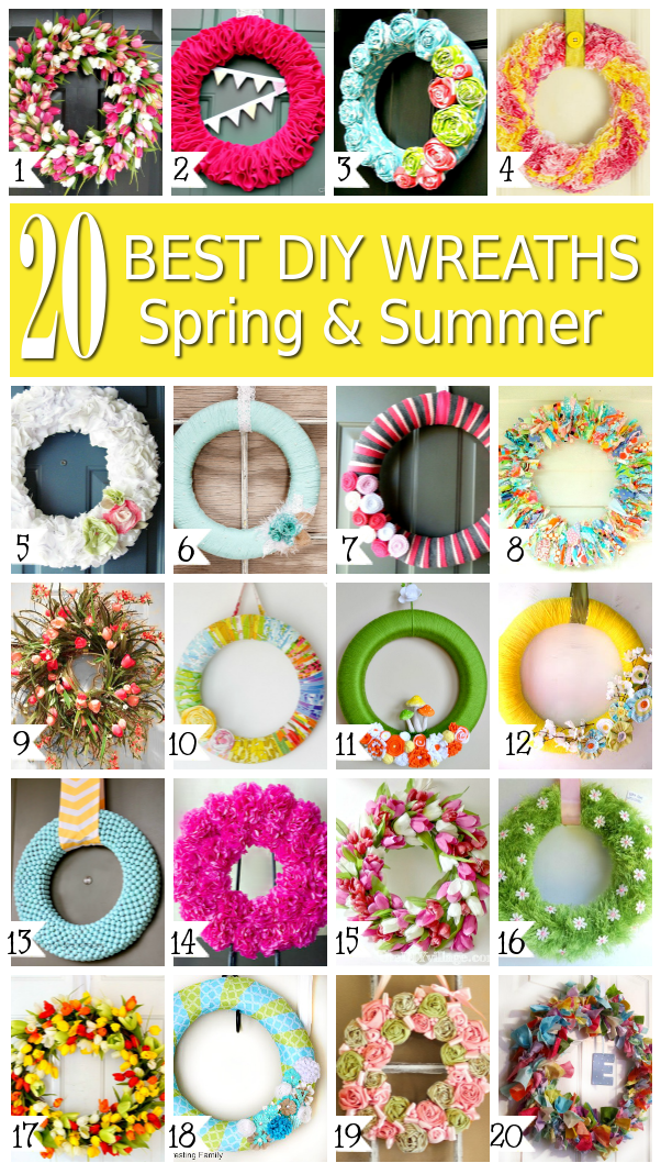 20 Best DIY Wreaths Spring and Summer