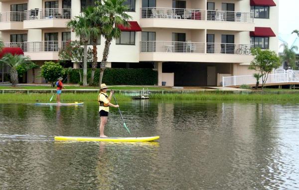People Paddleboarding in Destin, Florida
