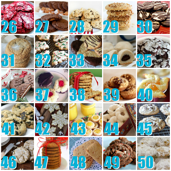 50 Christmas Cookie Recipes: 50 Best Christmas Cookies #Christmas #Holiday #Cookies