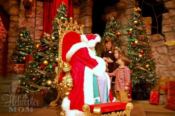Santa at Busch Gardens Christmas Town