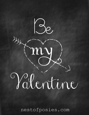 Be My Valentine Chalkboard
