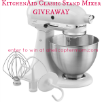 KitchenAid Mixer Giveaway at A Helicopter Mom
