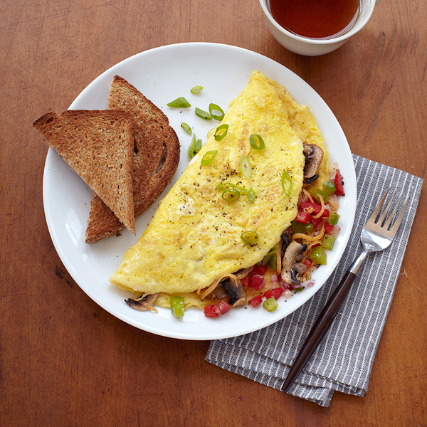 Veggie Omelet and Toast - Weight Watchers Simple Start