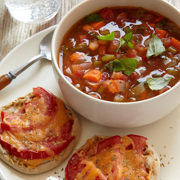 Grilled Cheese And Vegetable Soup - Weight Watchers Simple Start