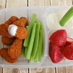Easy Lunch Ideas - Buffalo Wings with Celery and Bleu Cheese Dressing