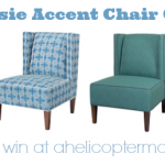 HGTV Jessie Accent Chair Giveaway at A Helicopter Mom