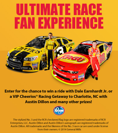 NASCAR Kroger Giveaway at A Helicopter Mom