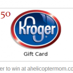 Kroger Gift Card Giveaway at A Helicopter Mom