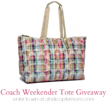 Coach Weekender Tote Giveaway at A Helicopter Mom