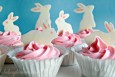 Easter Bunny Candy Cupcakes #Recipe #Tutorial