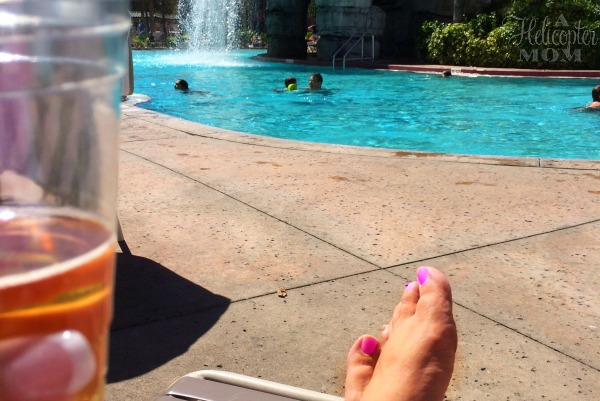 Enjoying a Drink by the Pool at Caribe Royale
