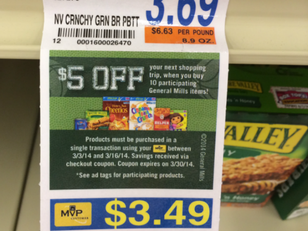 Food Lion General Mills Sale Ad Tags
