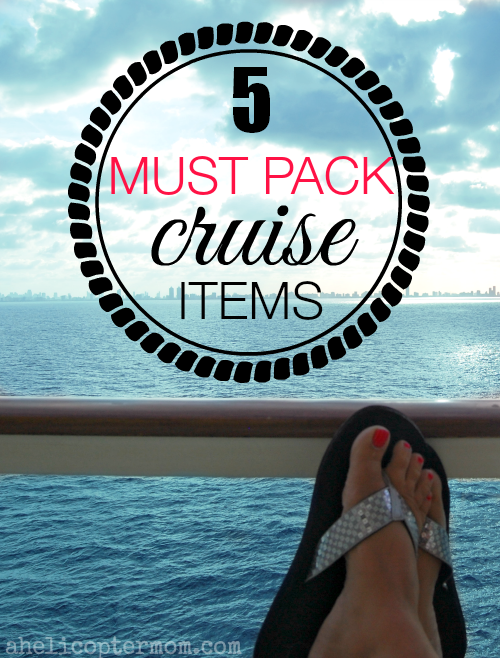 5 Must Pack Cruise Items #Travel