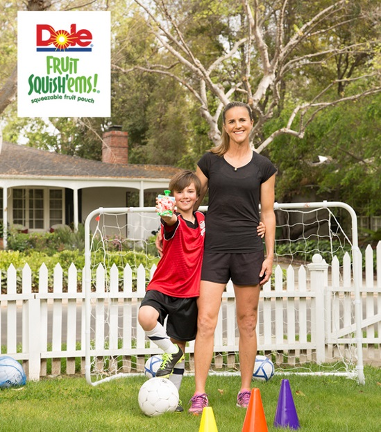 Brandi Chastain and DOLE Fruit Squish'ems
