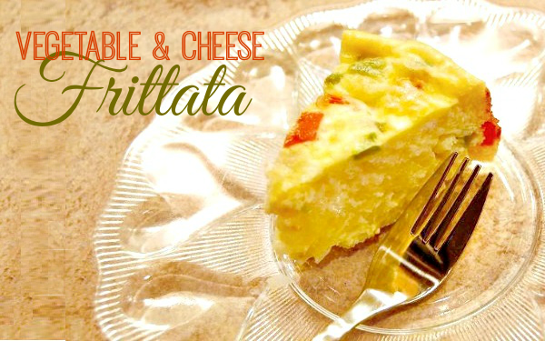 Easy Vegetable and Cheese Frittata Recipe - A Helicopter Mom