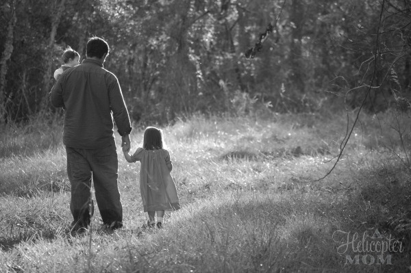 Dad Walking With Our Kids