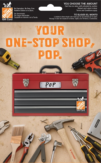 The Home Depot Toolbox Gift Card For Dad