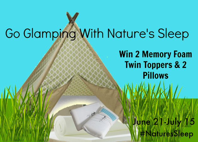 Go Glamping with Nature's Sleep Giveaway