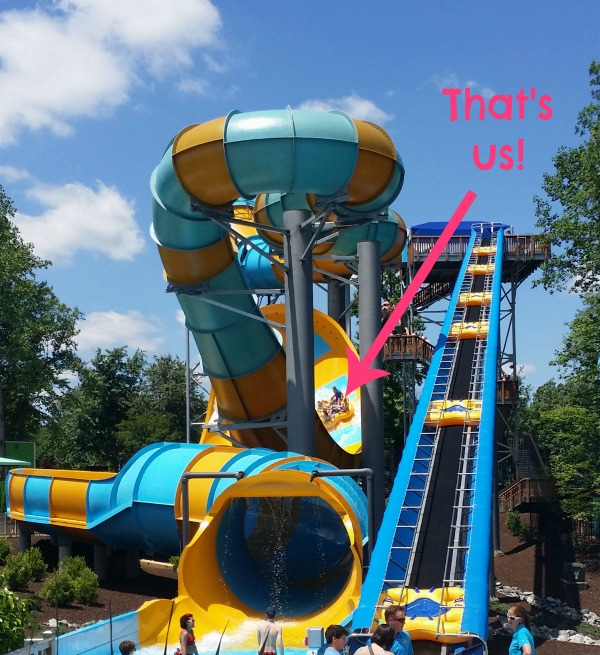 Mickey on Colossal Curl at Water Country USA