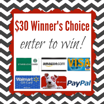 $30 Winner's Choice Giveaway