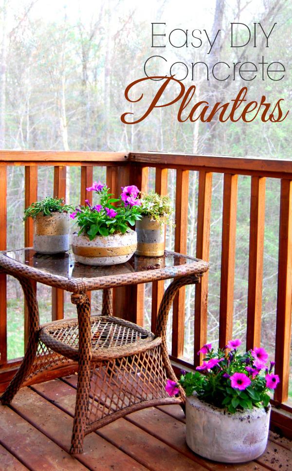 Easy DIY Concrete Planters - Easy Home DIY Project