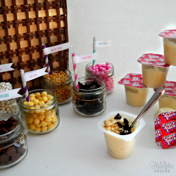 Fun DIY Snack Pack Sundaes