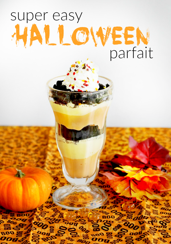 Super Easy Halloween Parfait