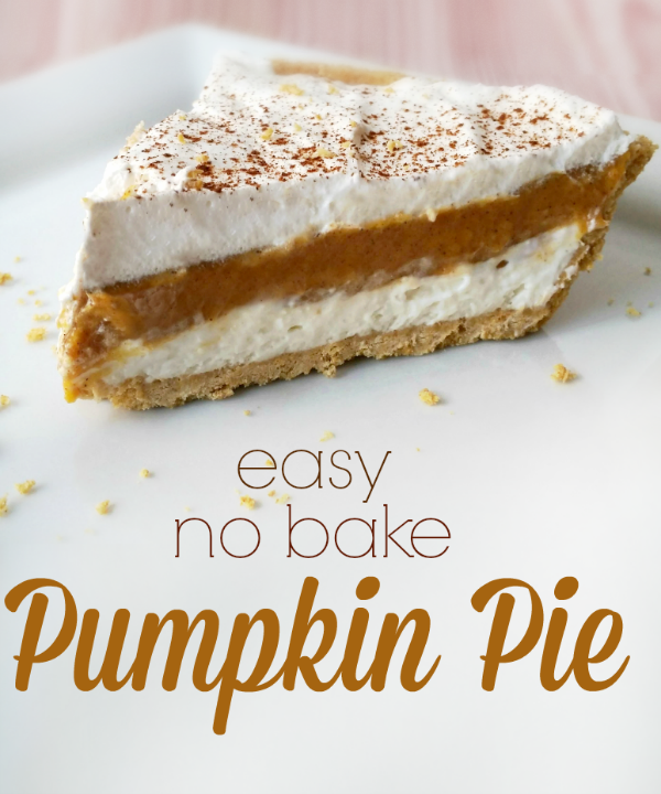Easy No Bake Pumpkin Pie Recipe - A Helicopter Mom