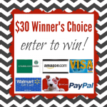 $30 Gift Card or $30 Paypal Giveaway – Winner's Choice
